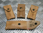 Genuine Vintage Tan / Brown Leather Knife or Accessory Pouch / Pocket