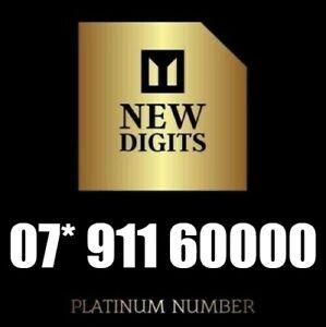 GOLD VIP BUSINESS EASY MEMORABLE MOBILE NUMBER SIM CARD 911 60000