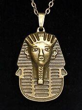 👁 ⚱️Bronze Pharaoh Sphinx Talisman Magick Egyptian Pendant Necklace Tutankhamun