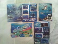5 blocs de timbres neufs sur les requins