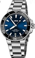 Oris AQUIS Blue DATE MENS Steel  39.5mm DIVERS WATCH RRP $3250  SELLING in AUST