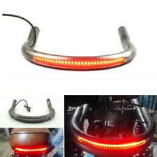 Universal Modified Cafe Racer Seat Frame Hoop Loop w/ LED Brake Turn Tail Light