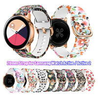 Armband für Samsung Galaxy Watch Active 42mm 20mm Strap Watch Band Silikon