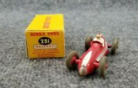 VINTAGE MECCANO DINKY TOYS 231 MASERATI RACE CAR #9  MADE IN ENGLAND W/BOX