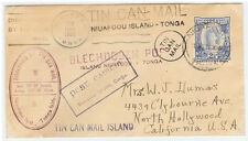 Tonga - Rare TIN CAN cover - 1937 - Many cancels - Excellent condition