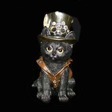 Deko Figur Gothic Steampunk Grusel 666 Halloween Horror putzige Katze IM088