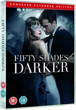 Fifty Shades Darker Unmasked Edition [DVD] + Slip Cover  * New & Sealed *