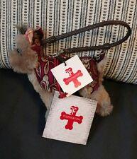 FUZZYNATION YORKIE DOG PURSE Small Plush doll Mini Cute Grey Red Gold
