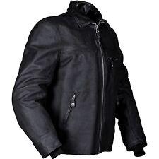 FURYGAN NEW TEXAS Black Motorcycle Waxy Leather Cruiser/Retro/Triumph Jacket