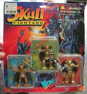 SKULL FIGHTERS - CHAP MEI - Pack of 3 Action Figures - NEW OLD - Vintage 1994