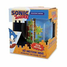 Sonic the Hedgehog 3D Motion Mug Animation Cup By Paladone (Rare)