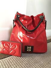 Rare & Stunning Orla Kiely Patent Leather Burdock Bag & Purse. Exc Condition!!