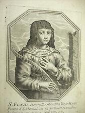 Sainte Flavia Domitilla Michiel VAN LOCHOM XVIIe Duchesse d'Aiguillon 1639