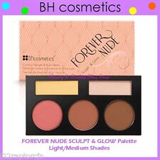 NEW BH Cosmetics FOREVER NUDE SCULPT & GLOW Contour/Blush Palette-Light/Medium