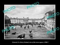 OLD LARGE HISTORIC PHOTO OF LISTOWEL KERRY IRELAND, THE TOWN SQUARE c1900 2