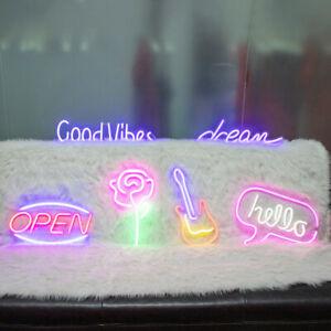 Large Neon Sign Light Wall Lamp USB Rainbow Visual Art Decor Home Room Kid Gift