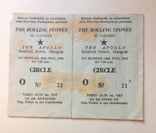 Rolling Stones Billy Preston May 1976 Unused Concert Ticket Glasgow UK Original