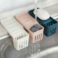 Kitchen Sink Faucet Sponge Soap Storage Organizer Sucker Drain Rack Holder Shelf