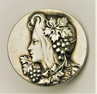 Jugendstil Knöpfe Wein Dekor 925er Sterling Silber 3x Knopf Art Nouveau Buttom