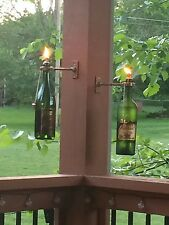 Lot of 10 High Quality Wine Bottle Porch Torch Hanging Kits w/Wicks & Holders