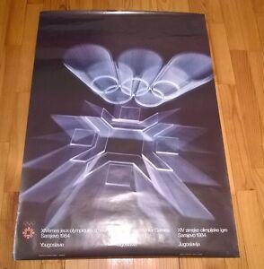 Winter olympic games Sarajevo 1984 poster (68cm / 98cm)