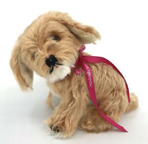 Hermann Cocker Spaniel Pup Dog Mohair Dralon Plush 17cm 7in Glass Eyes no ID Vtg