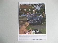 FORD ZEPHYR MK2 POSTCARD OF AN ORIGINAL ADVERT FROM 1960