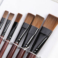 6Pcs Nylon Acrylic Oil Paint Gouache Brushes For Artist Supplies Watercolor Set