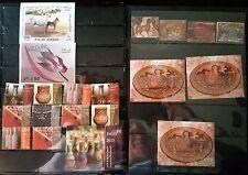 Jordan FRANCOBOLLI collezioni, 2015,2008, 6 collezioni/Set e 5 FOGLI, usato #11