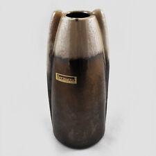 Vase formano 550-22 / beige & braun / Keramik / german pottery / 60er Spaceage