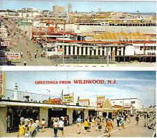 4 Wildwood by the Sea NJ, Boardwalk Postcards