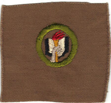 BOY SCOUT SCHOLARSHIP #3 SQUARE TEENS MERIT BADGE (TYPE AA) GRAY HAND UNLISTED