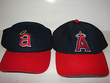 Pair Los Angeles Angels Caps 1971 Model & Batting Practice Cap /Nice