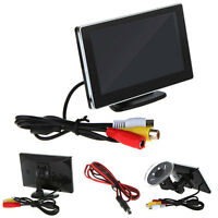 """Slim 4.3"""" TFT Color Car Rearview Monitor for Car DVD Camera VCR"""