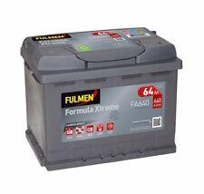 Batterie démarrage voiture Fulmen FA640 12v 64ah 640A D15 075 Batterie VW AUDI B