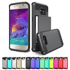 New Credit Card ShockProof Tough Strong Case Samsung Galaxy S9 S8 + Plus Note 8