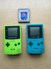 Nintendo GameBoy Color Lot Of 2 CGB-001 NO BATTERY COVER With Tetris Game