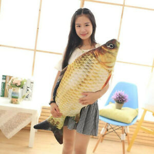 Big Fish Shape Pillow Sofa Couch Seat Throw Cushion Toys Home Decoration New
