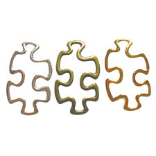 Autism Puzzle Piece Charms Awareness MIXED COLORS Aspergers Jewelry Lot of 12