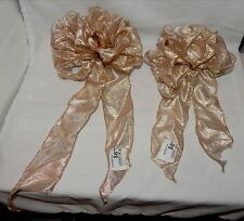 """Big Wedding Glitter Bows Michaels Stores 12""""x 9"""" Gold on White 2ea Handcraft 12R"""