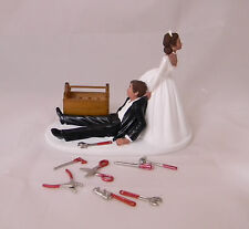 Wedding Reception Hispanic Car Truck Mechanic Tools Grease Cake Topper Garage