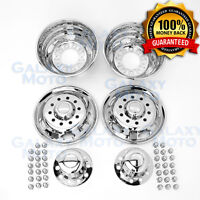 "05-17 Ford F450 DUALLY Chrome 19.5"" 10 Lg Wheel Simulator Liner+Center Cap Cover"
