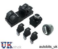 SET OF CHROME WINDOW MIRROR HEADLIGHT SWITCH CONTROL VW PASSAT GOLF JETTA W AUTO