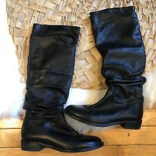 Stuart Weitzman black riding boots 5.5 leather knee high boot made in Spain