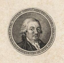 Jonkheer Nanning van Foreest (Stadt Hoorn/Alkmaar). - Kupferstich von A.J. Hulk