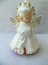 Vtg Holt Howard Christmas Angel Figurine Candle Holder! 1960! Muff!