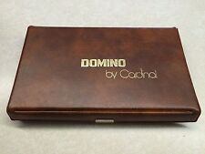 """Vintage Domino Set (28) by Cardinal """"Texas 42"""" Brown Case"""