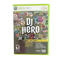 DJ Hero Game (Microsoft Xbox 360, 2009) With Manual
