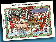 SCHÖNER ALTER ADVENTSKALENDER 1984 > NIKOLAUS MIT SCHLITTEN > GOLF WERBUNG > 2