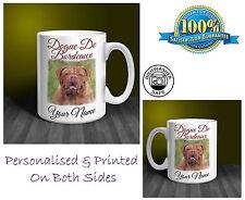 Dogue De Bordeaux Personalised Ceramic Mug: Perfect Gift. (D243)